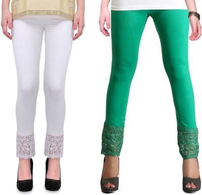 RobinRomeo Women's Green, White Leggings