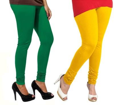 VP Vill Parko Women's Yellow, Green Leggings