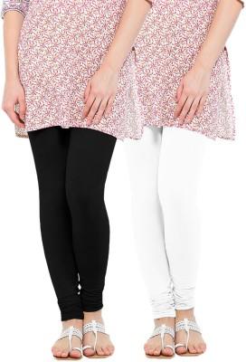 WellFitLook Women's Black, White Leggings