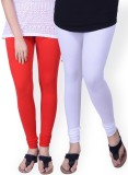 Umesh Fashion Women's Red, White Legging...