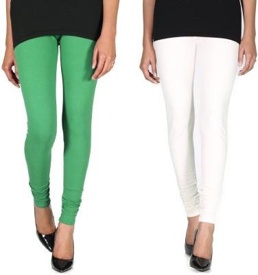 Ally Of Focker Women's Green, White Leggings