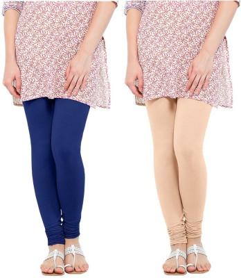 Oh Fish Women's Beige, Blue Leggings