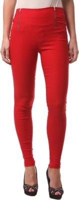 FashionExpo Women's Red Jeggings