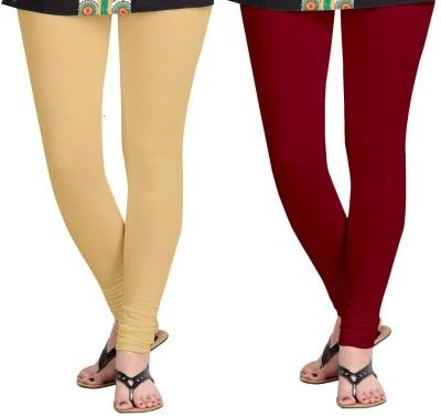 ZACHARIAS Women's Beige, Maroon Leggings
