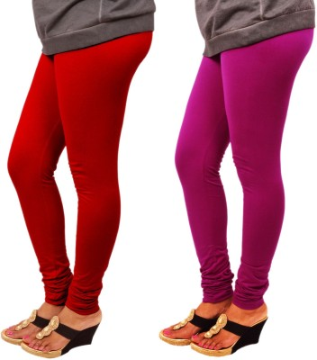 Leggings World Women's Red, Purple Leggings
