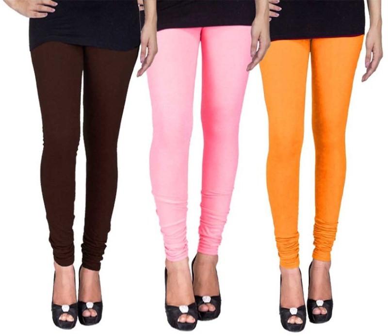 C&S Shopping Gallery Women's Multicolor Leggings(Pack of 3)