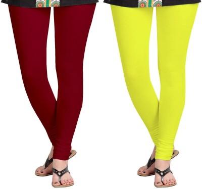 AF Sayonara Women's Maroon, Yellow Leggings