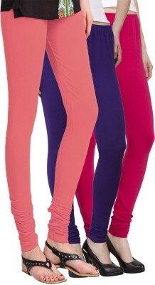 VENUSTAS Women's Pink, Dark Blue, Silver Leggings