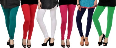 Elevate Women Women's Dark Green, Red, White, Pink, Purple, Light Green Leggings