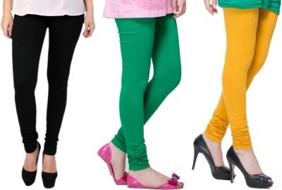 Lienz Women's Black, Green, Yellow Leggings