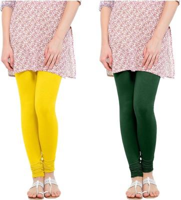 Oh Fish Women's Green, Yellow Leggings