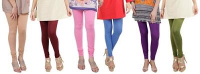 Prekrasna Women,s Gold, Maroon, Pink, Blue, Purple, Light Green Leggings