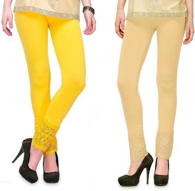 RobinRomeo Women's Beige, Yellow Leggings