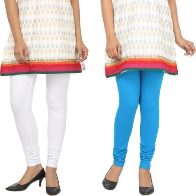 Agrima Fashion Women's White, Light Blue Leggings