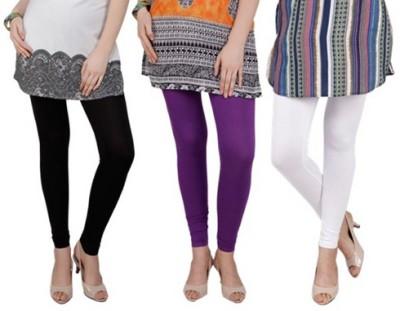 Prekrasna Women,s Black, Purple, White Leggings