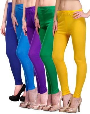 Rowena Women's Blue, Light Blue, Purple, Green, Yellow Leggings