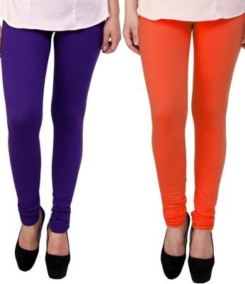 divine creations Women,s Orange, Purple Leggings