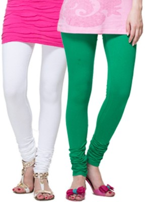 Apsn Retail Women's White, Green Leggings