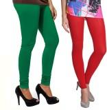 VP Vill Parko Women's Green, Red Legging...