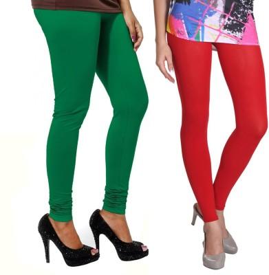 VP Vill Parko Women's Green, Red Leggings