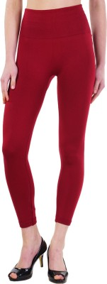 Wake Up Competition Women's Maroon Leggings