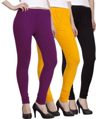 VENUSTAS Women's Black, Yellow, Purple Leggings