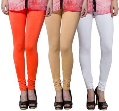 Roma creation Women's Beige, White, Orange Leggings