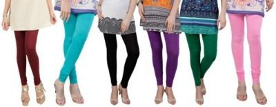 Prekrasna Women,s Maroon, Light Blue, Black, Purple, Green, Pink Leggings