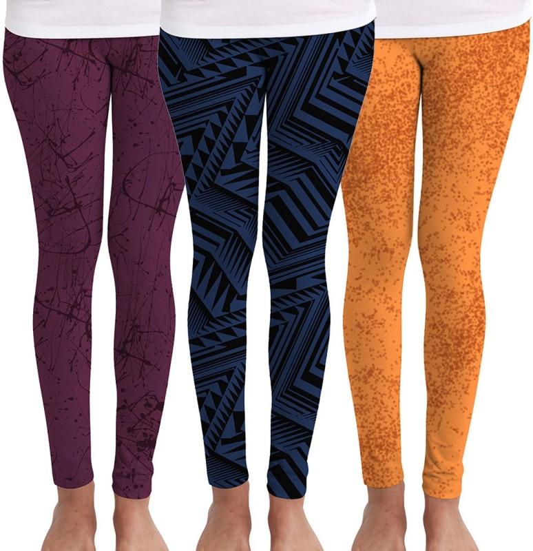 Huetrap Women's Multicolor Leggings(Pack of 3)