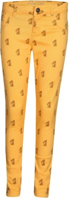 Gini & Jony Girl's Yellow Jeggings