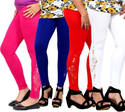 By The Way Women's Pink, Red, White, Blue Leggings