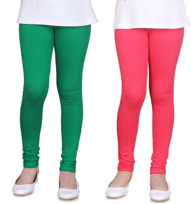 Sini Mini Girl's Green, Pink Leggings
