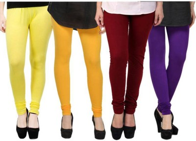 Fashion Zilla Women's Yellow, Orange, Maroon, Purple Leggings