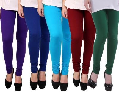 Myra Softwear Women's Purple, Blue, Light Blue, Maroon, Green Leggings