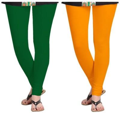 Roshni Creations Women's Green, Orange Leggings