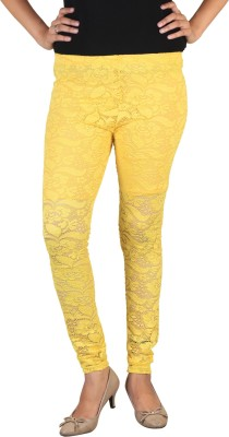 indian street fashion Women's Yellow Leggings
