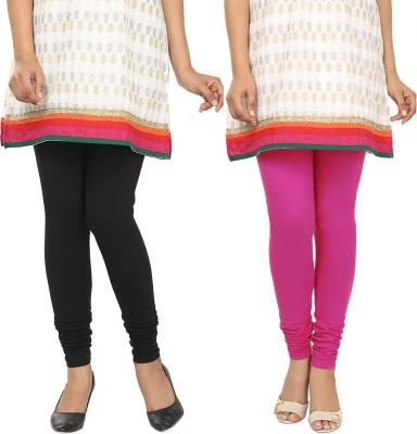 Agrima Fashion Women's Black, Pink Leggings