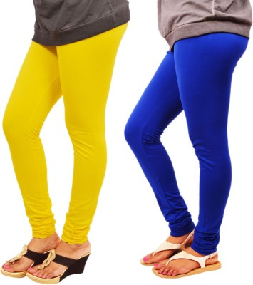 Leggings World Women,s Yellow, Blue Leggings