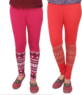 T-BRO,S Enterprises Women's Pink, Red Leggings