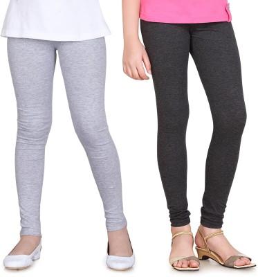 Sini Mini Girl's Grey, Grey Leggings