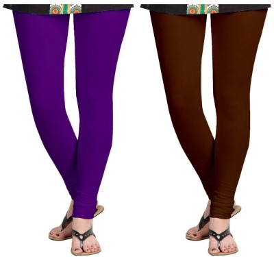 Roshni Creations Women's Brown, Purple Leggings