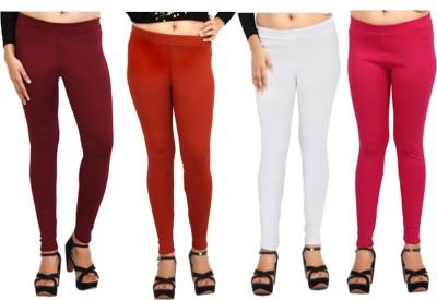 Comix Women's Maroon, Orange, White, Pink Leggings