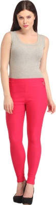 FASHION SHOPPE Women's Pink Jeggings