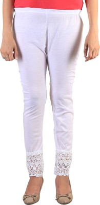 indian street fashion Women's White Leggings