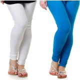 Archway Women's White, Blue Leggings (Pa...