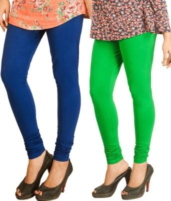 Scorpio Fashions Women's Blue, Green Leggings