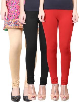 Eshelle Women's Black, Beige, Red Leggings