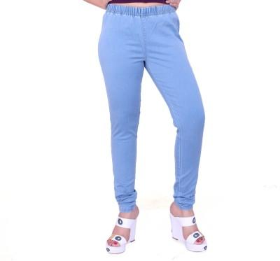 FCK-3 Women's Blue Jeggings