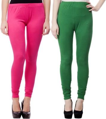 JUST CLIKK Women's Pink, Green Leggings