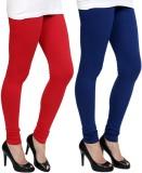 Pannkh Women's Blue, Red Leggings (Pack ...